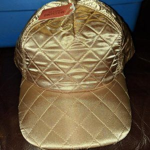 mossimo gold shiny quilted baseball hats
